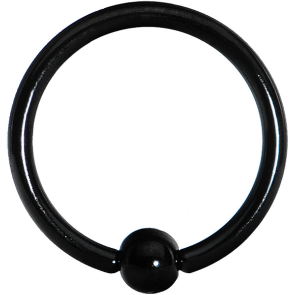 "16 Gauge Black Titanium Captive Ring 3/8"" 3mm"