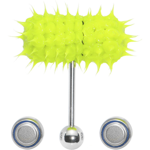 Glow in the Dark Spike Thrasher LIX Vibrating Tongue Ring