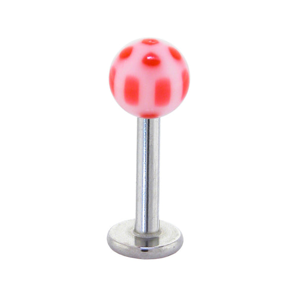 Red Acrylic Soccer Ball Labret