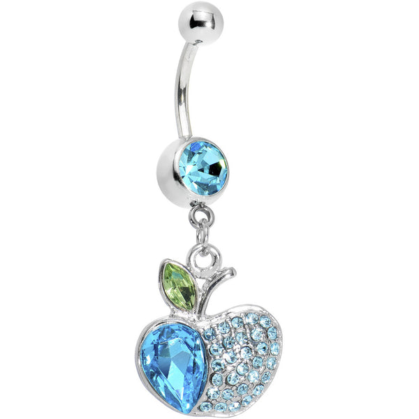Eve's Aqua Gem Apple Belly Ring