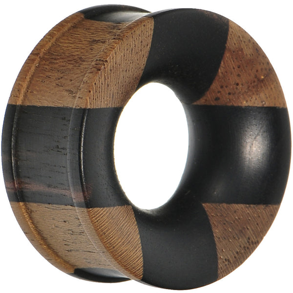 "1"" Organic Jati and Areng Ebony Wood Tunnel"
