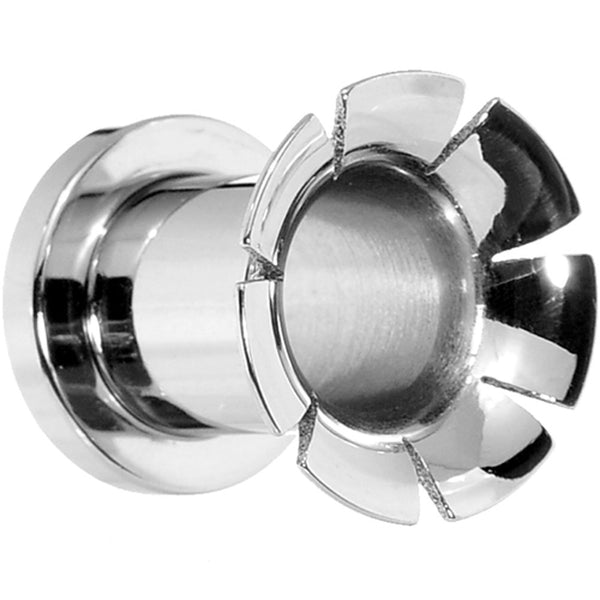 0 Gauge Stainless Steel Hollow Groove Flare Front Screw Fit Tunnel