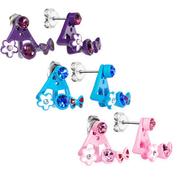 Floral Kisses and Butterfly Hugs Stud Earring Set