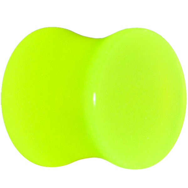 00 Gauge Green Acrylic Glow in the Dark Saddle Plug