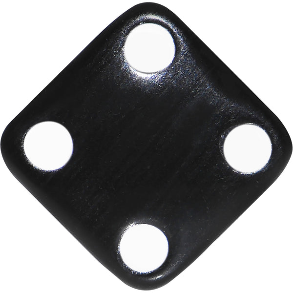 2 Gauge Black Acrylic Square Dice Saddle Plug