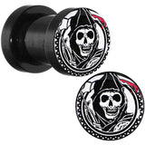2 Gauge Acrylic Sons of Anarchy Gunsickle Grim Reaper Screw Fit Plug Set