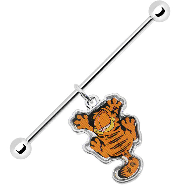 38mm Dangling Garfield Industrial Barbell