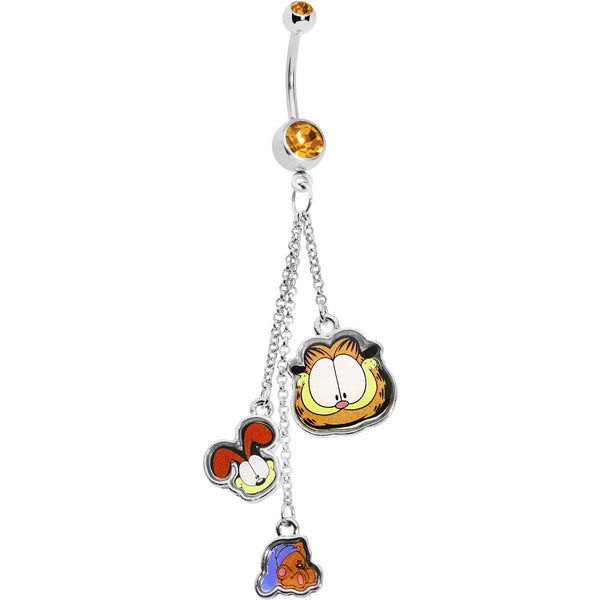 Licensed Odie and Pooky Garfield Belly Ring