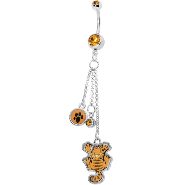 Licensed Cat Paws Garfield Belly Ring