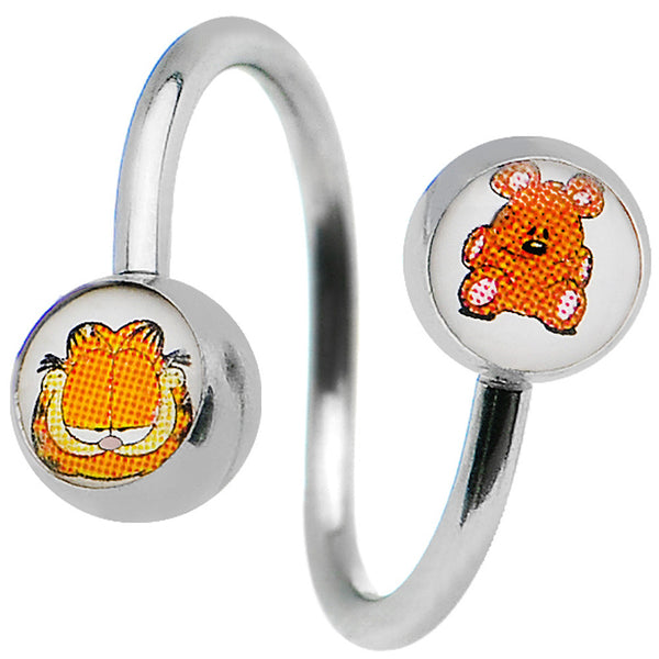 Pooky Teddy Bear and Garfield Spiral Twister Belly Ring