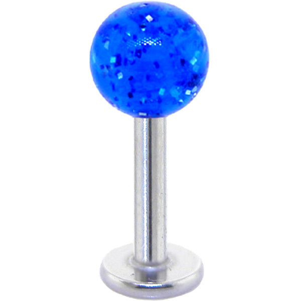 Electric Blue GLITTER Labret