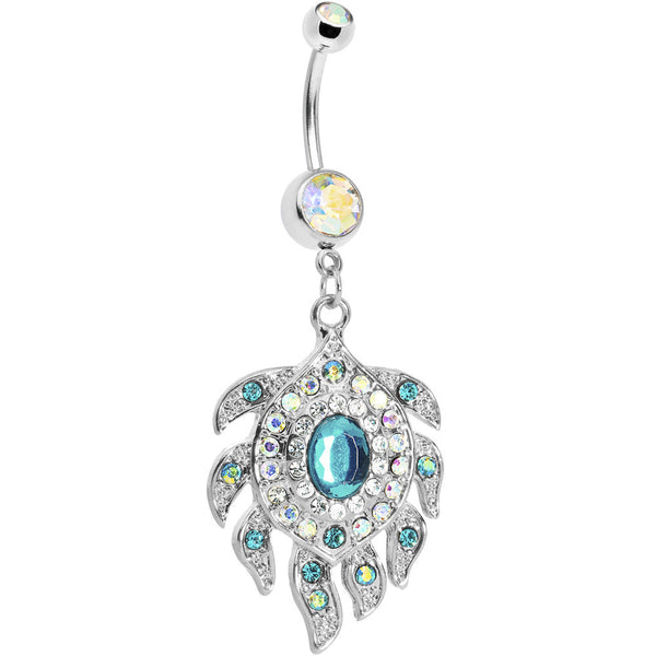 Aurora Gem Sea Flower Belly Ring