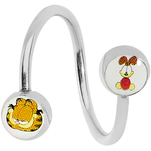 Odie the Dog and Garfield Spiral Twister Belly Ring