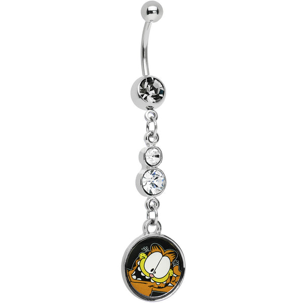 Chain Dangle Expression Garfield Belly Ring