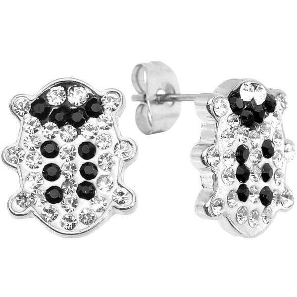 Clear Ferido Crystal Snuggle Bug Stud Earrings