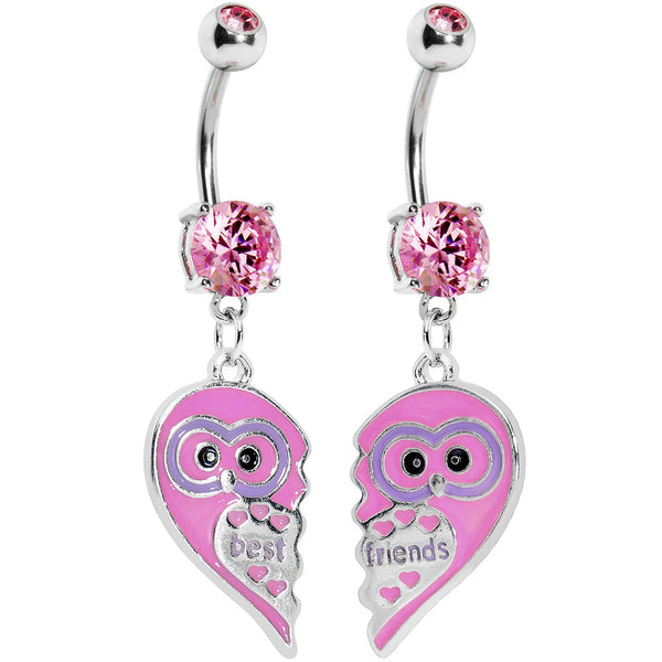 Owl Best Friends Belly Ring Set