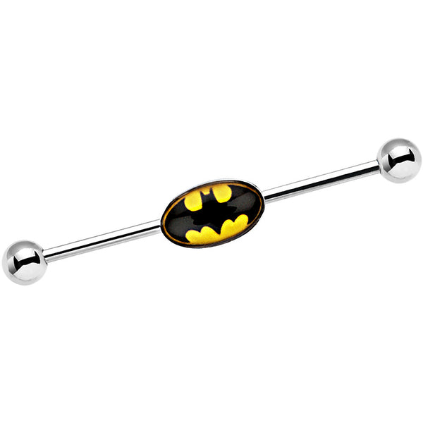 Officially Licensed Steel Yellow Batman Logo Industrial Barbell 38mm