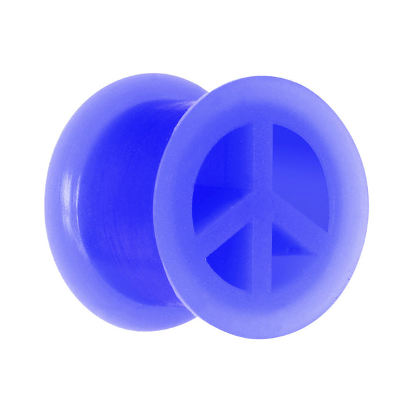"1/2"" Purple Silicone Peace Sign Tunnel"