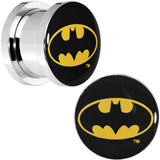 "1/2"" Stainless Steel Batman Logo Screw Fit Plug Set"