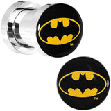 2 Gauge Stainless Steel Batman Logo Screw Fit Plug Set