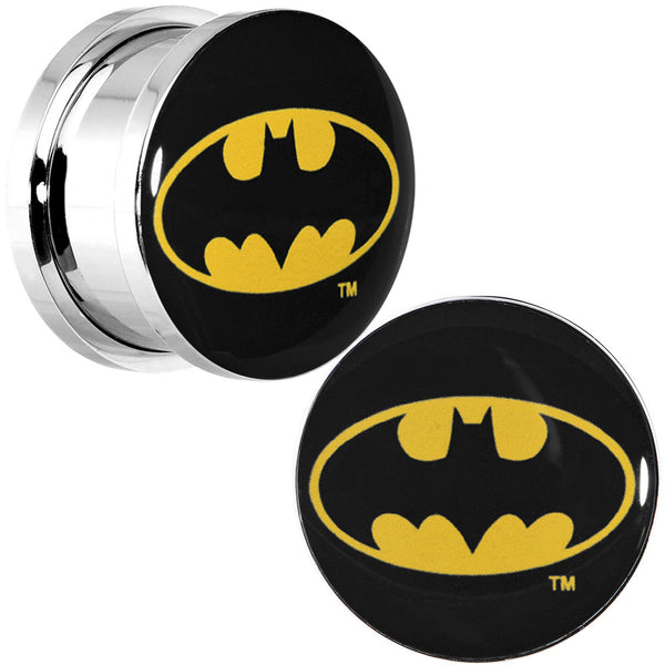 "5/8"" Stainless Steel Batman Logo Screw Fit Plug Set"