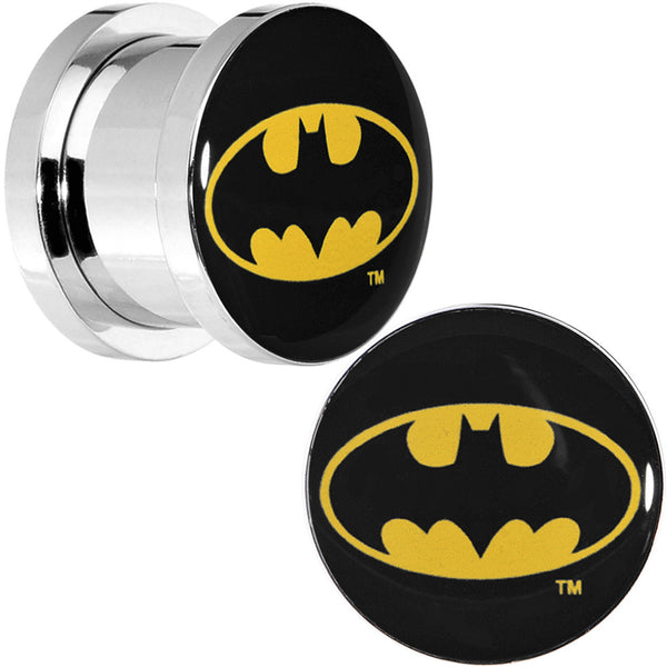 "7/16"" Stainless Steel Batman Logo Screw Fit Plug Set"