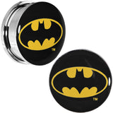 "7/8"" Stainless Steel Batman Logo Screw Fit Plug Set"