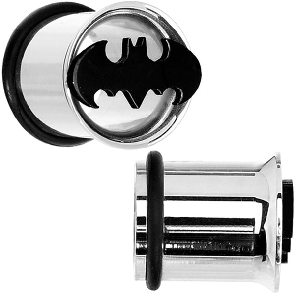 00 Gauge Stainless Steel Batman Tunnel Plug Set