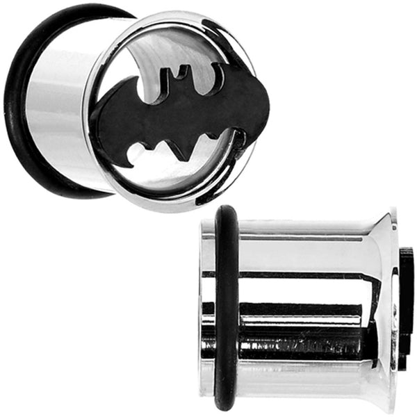 "7/16"" Stainless Steel Batman Tunnel Plug Set"