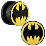 "1/2"" Black Acrylic Batman Screw Fit Plug Set"