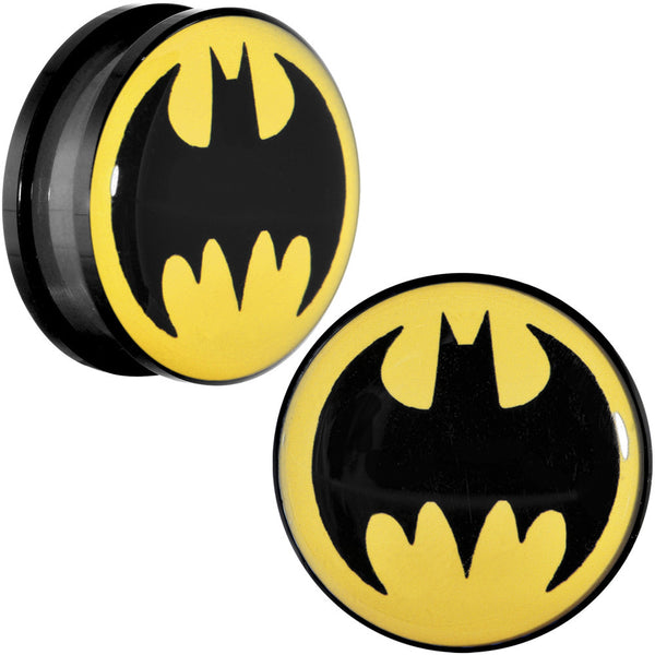 "7/8"" Black Acrylic Batman Screw Fit Plug Set"