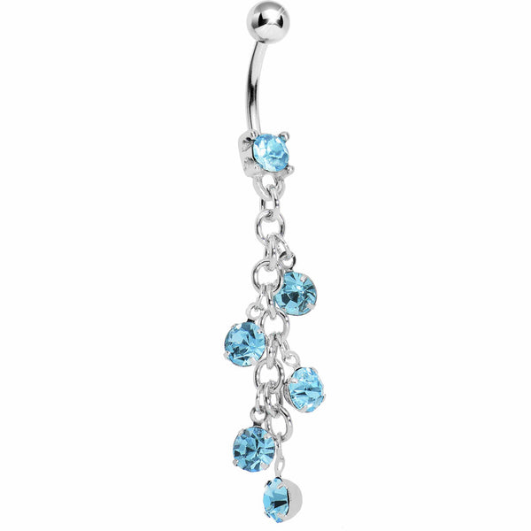 Aqua Sparkle Showers Belly Ring