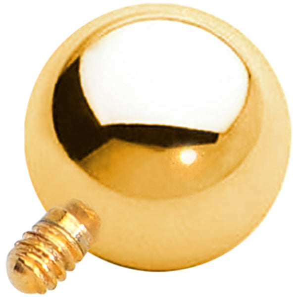 5mm Gold Anodized Titanium Ball Dermal Top