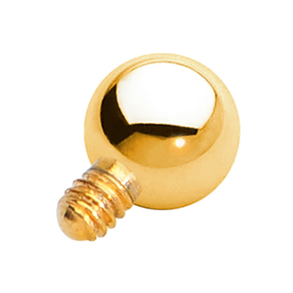 3mm Gold Anodized Titanium Ball Dermal Top
