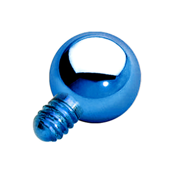 3mm Blue Anodized Titanium Ball Dermal Top
