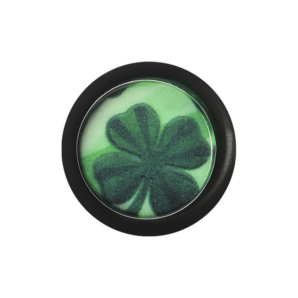00 Gauge Green Acrylic Four Leaf Clover Field Taper