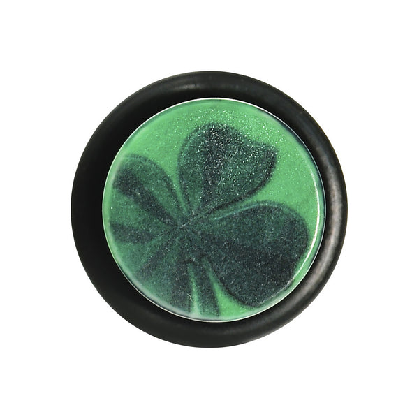 1/2 Green Acrylic Four Leaf Clover Field Taper