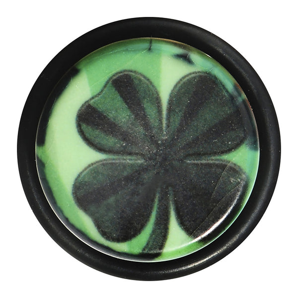 5/8 Green Acrylic Four Leaf Clover Field Taper