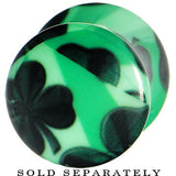 00 Gauge Green Acrylic Four Leaf Clover Field Saddle Plug