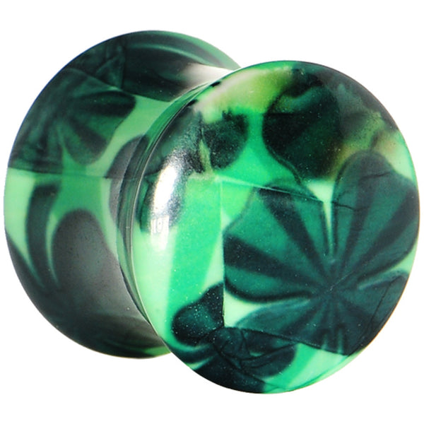"1/2"" Green Acrylic Four Leaf Clover Field Saddle Plug"