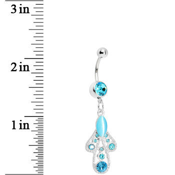 Blue Moonlit Enchantment Belly Ring