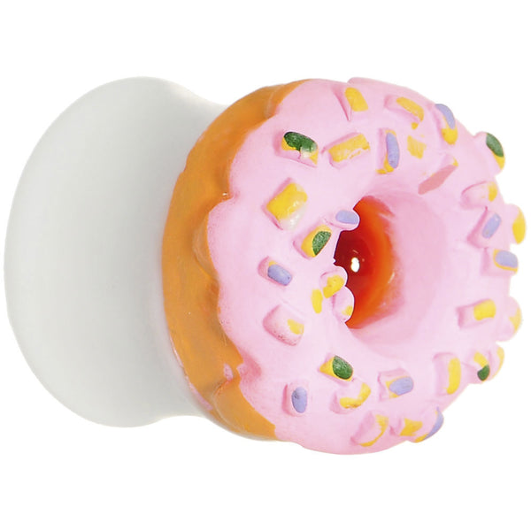 "9/16"" Pink Frosted Doughnut Saddle Plug"