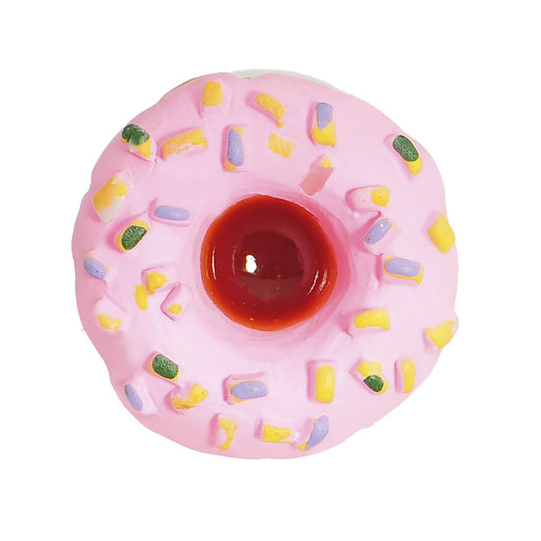 9/16 Pink Frosted Doughnut Saddle Plug