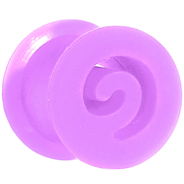 00 Gauge Purple Flexible Silicone Flat Spiral Plug