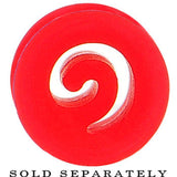 0 Gauge Red Flexible Silicone Flat Spiral Plug