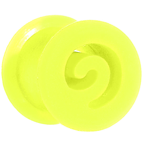 0 Gauge Green Flexible Silicone Flat Spiral Plug