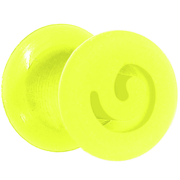 2 Gauge Green Flexible Silicone Flat Spiral Plug