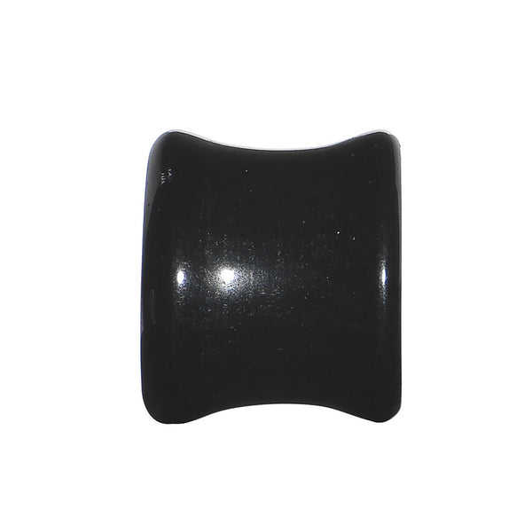 1/2 Black Obsidian Natural Stone Concave Plug