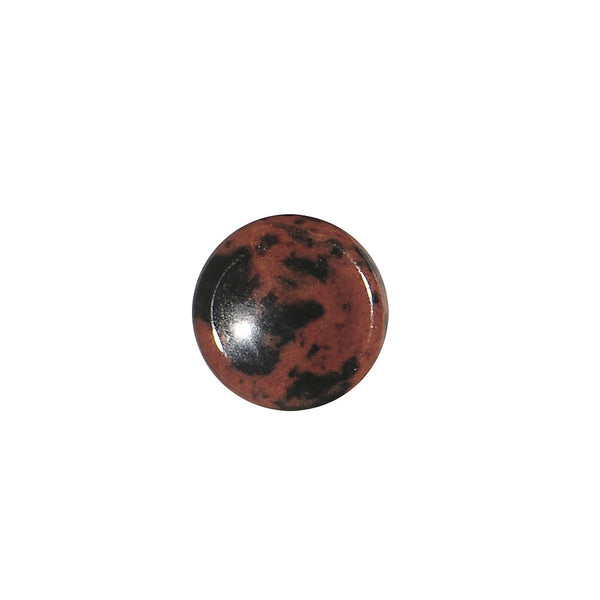 2 Gauge Mahogany Obsidian Natural Stone Concave Plug