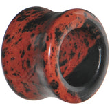 5/8 Mahogany Obsidian Natural Stone Tunnel